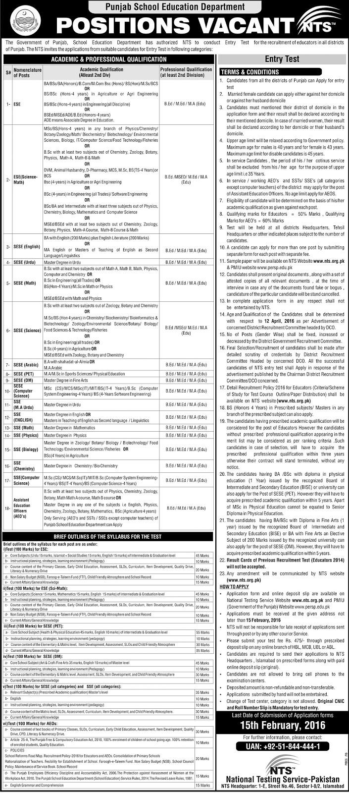Download Application forms for Educators Jobs 2016 – Govt Emerson ...